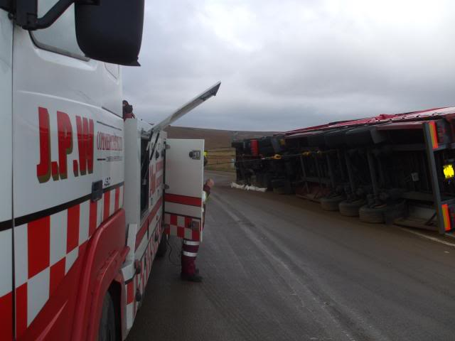 Overturned Lorry Recovery